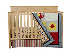 Elephant Parade Crib Bedding Set- 3 Piece