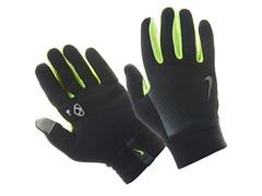 Men Thermal Run Gloves - Black/Volt