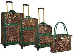 Faux Pebble Grain 4-Piece Luggage Set