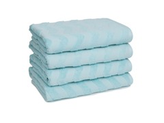 Chevron Bath Towels S/4-Eggshell