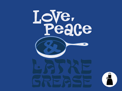 Love, Peace & Latke Grease Apron