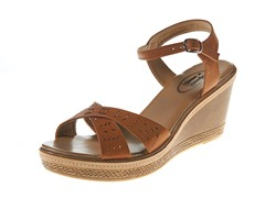 Carrini Wedge Sandal, Tan/Tan