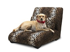 Elliot Chaise Pet Bed - Leopard
