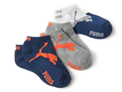 Boys 3pk Low Cut Puma Socks - Assorted