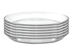 "Set of Six 5.3"" Glass Plates"
