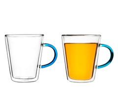SagaForm Tea Mugs 2pk Turquoise