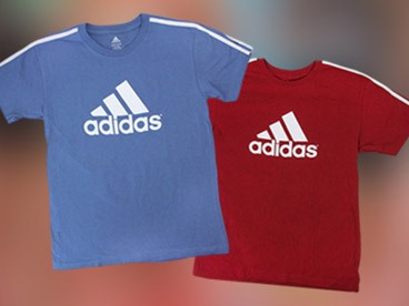 Adidas Boys 3-Stripe Tee
