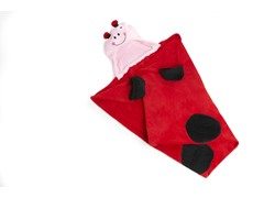 Lady Bug Hooded Blanket