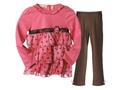 Tunic & Leggings Set - Hot Pink (4-6X)