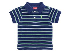 Navy Striped Pique Polo (12M-18M)