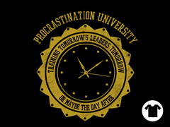 Procrastination University - Black
