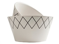 K by Keaton 2pc K-Stitch Bowl Set