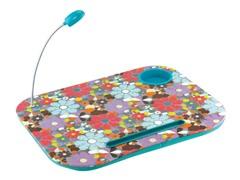 Laptop Cushion - Blue Flowers