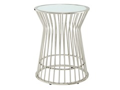 Contemporary Planter Glass Top Accent Table