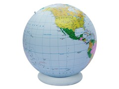 "36"" Inflatable Globe- Blue Political"