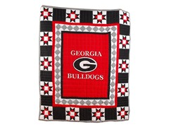 University of Georgia Quilted Throw B