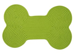 Bright Green Dog Bone Solid Rug - 3 Sizes