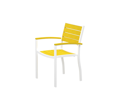 Euro Dining Chair, White/Lemon
