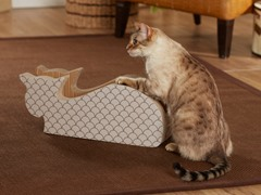 Alley Cat Cardboard Cat Scratcher - Taupe