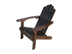 Charcoal Wood Adirondack Chair