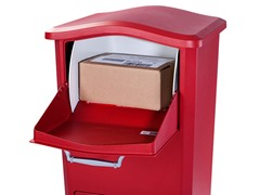 Elephantrunk Parcel Drop Box, Red