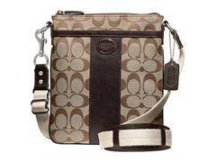 Coach Legacy Signature Swingpack- Khaki/Mahogany