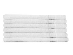 MicroCotton 6pc Hand Towel Set-White