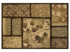 Emery Brown-Tan Floral Rug (Multiple Sizes)