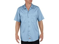 Short Sleeve, Two-Pocket - Light Blue