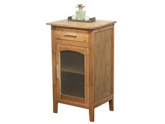 TMS Bamboo Floor Cabinet with Glass