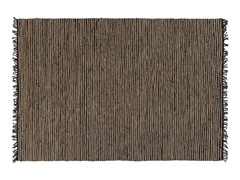 Jute and Leather 5'x7' Rug