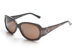 Brown & Striped Sunglasses w/ Brown Lens