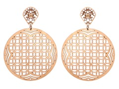 18kt Rose Plated Consecutive Earrings