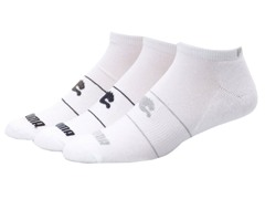 1/2 Terry Low-Cut, White/Black 6-Pack