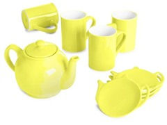 9-Piece Tea Set - Bright Yellow