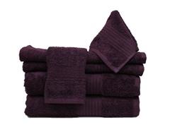 6Pc Towel Set-Eggplant