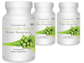 Vitaminerals Green Coffee Extract, 180ct