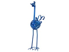 Filigree Bird Statue, Blue