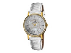 Women's Crystal Watch, White / Gold