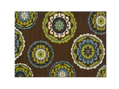 Cottage Brown/Green Rug-4 Sizes
