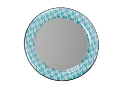 Mirror - Aqua/White Houndstooth