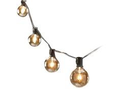 Global Party Lights with Bulbs, 25-Ft
