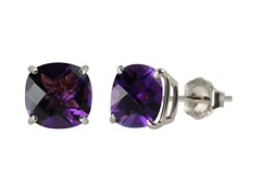 10K WG Stud Earrings, Amethyst