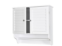 SEI Nassau Louvered Towel Cabinet - Wht