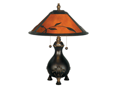 """Mica Leaves Table Lamp 16""""x22"""""""