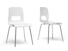 Greta White Dining Chair Set/2