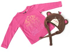 Girls Monkey Hat & Tee