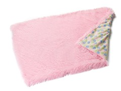 Shaggy Pink Reversible Throw