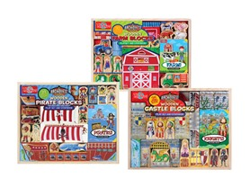 Wooden Blocks & Storybook Set- 3 Choices