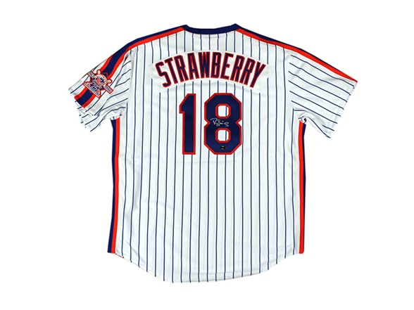 new product f6323 f31fb Darryl Strawberry Signed Jersey Mets